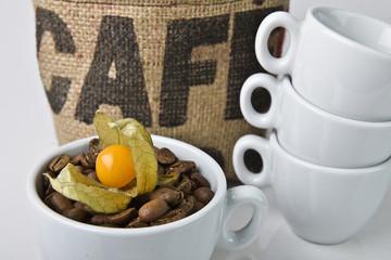 Kaffee mit Physalis Geschmack