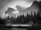 Black and White Bridalveil Falls