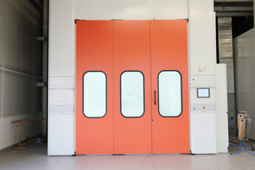 the door into the drying chamber