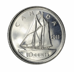 Canadian dime coin