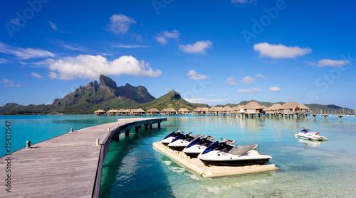 Papiers peints Océanie Jet Ski in Bora Bora