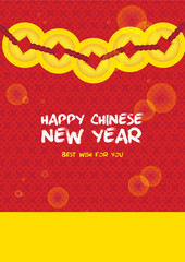 Chinese New Year card celebration golden coin card