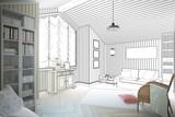 Wohnungseinrichtung (Entwurf) - 75439963
