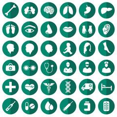 vector medical icon illustration, medicine set, hospital symbol