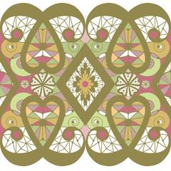 Seamless lacy lace pattern background