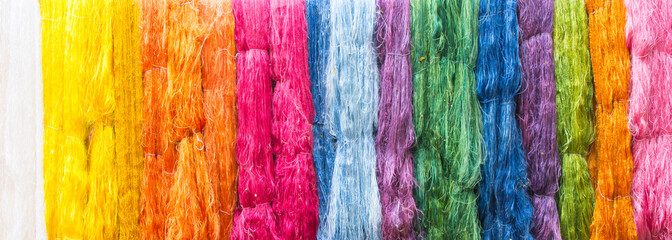 Hand made of raw silk