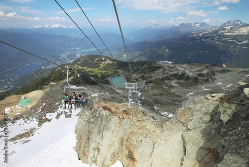 Chair lift and mountains in Whistler. British Columbia. Canada - 75440930