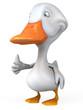 canvas print picture - White duck.