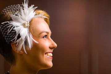 Bride and head piece