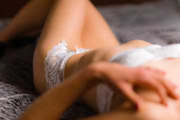 Woman and lingerie