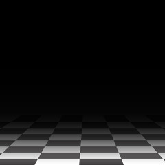 Background chess floor, black