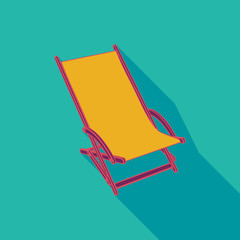 Lounger Beach Sunbed Chair flat icon