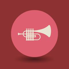 Trumpet symbol, vector
