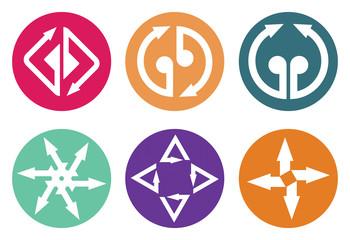 Color arrows icon set