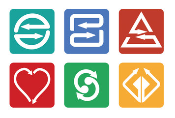 Color arrows icon set
