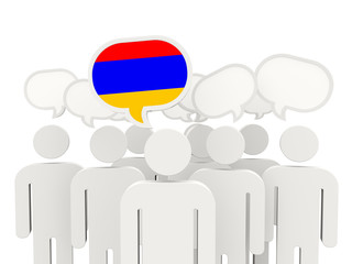 People with flag of armenia