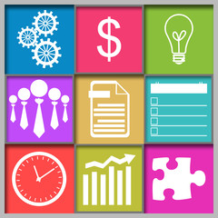 Business Abstract Grid Colorful