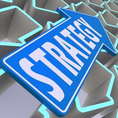Strategy blue arrow