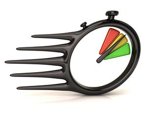 Black stopwatch icon