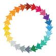 Editable color wheel  with arrows