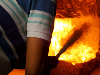 fire fighting extinguish drill practice