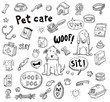 Pet icons doodle set, vector illustration. - 75447770