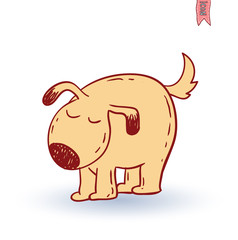 dog icon -  illustration.