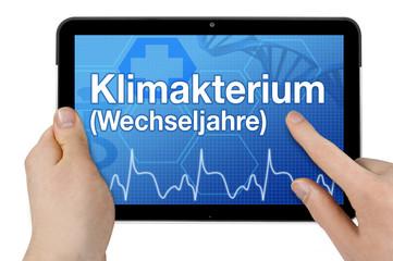 Tablet mit Interface und Klimakterium