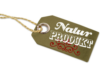Anhänger mit Naturprodukt