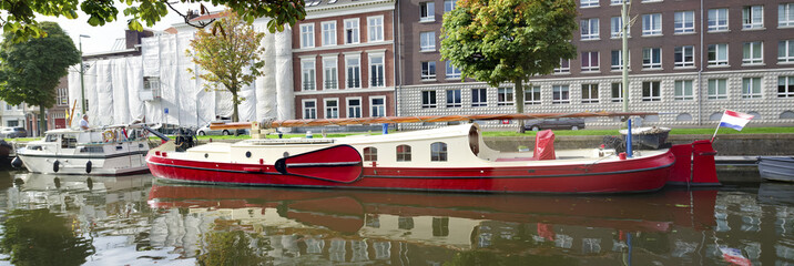barge in a canal