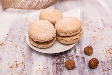 Macarons aus Hasselnuss