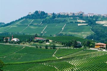 The Village of La Morra in Piedmont,Italy