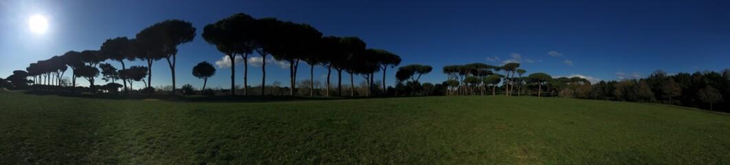 Villa Doria Pamphili parco Roma Italia panoramica