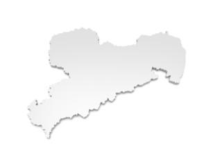3D Karte Sachsen