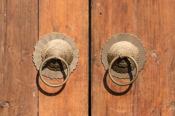 Copper door knocker