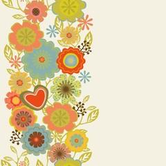 Vintage floral greeting card