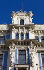 Art Nouveau Palace in Riga, Latvia