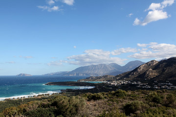 Stormy day in Mirabello Bay, Northern Crete