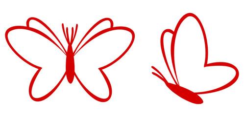 Herz Schmetterling