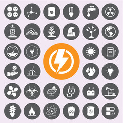 Energy power and environment icon set.Vector/EPS10