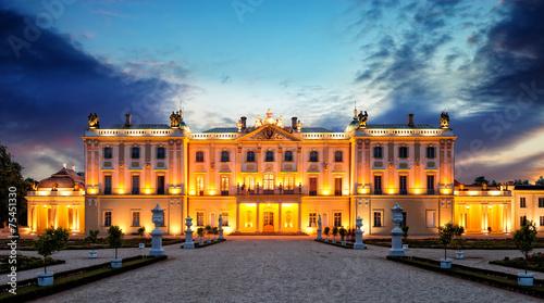 Zdjęcia na płótnie, fototapety na wymiar, obrazy na ścianę : The Branicki Palace in Bialystok Bialystok, Poland.