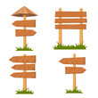 Vector wooden signs set