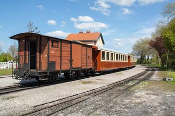 Wagons de marchandises en gare du Crotoy, Somme, Picardie