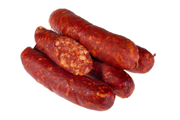 Sausages isolated on white background