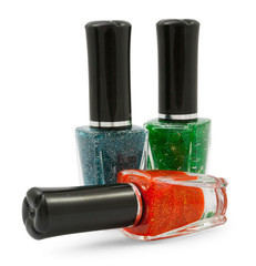 Green red  blue nail