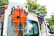 Mobile Trage einem Rettungswagen
