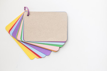 Set of colorful empty paper sheets