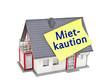 Haus mit Zettel und Mietkaution