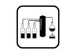 Distillation kit on white background