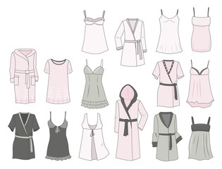 Women's negligees and robes